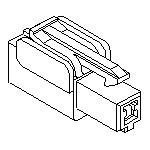MOLEX ELECTRONICS 35151-0110 070 W/W PLUG HSG-1P