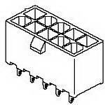 MOLEX ELECTRONICS 39-29-9207 MiniFitJrHdr Vt DR W/Pgs Tin V-0 20Ckt