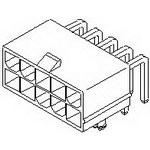 MOLEX ELECTRONICS 39-30-1040 MiniFit Jr RA DR /Pegs Tin V-2 4Ckt