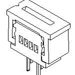 MOLEX ELECTRONICS 39-53-2175 1.25 FFC ZIF Hsg Assy 17Ckt
