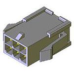 MOLEX ELECTRONICS 43020-0600 MicroFit 3.0 Plug DR PnlMnt 6Ckt