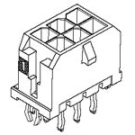 MOLEX ELECTRONICS 43045-1626 MicroFit 3.0 V TH /Clip DR 30Au 16Ckt