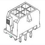 MOLEX ELECTRONICS 43045-5814 Microfit 30 Vert Thrhole DR 30Au 8 Ckt
