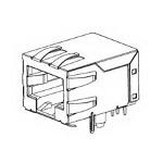 MOLEX ELECTRONICS 43202-8824 Modjack RA LoPro Flgls w/Shld 50Au 8/8