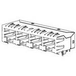 MOLEX ELECTRONICS 43223-6058 ModJack RA Gangd Unshl Flh 8Prt 6/2