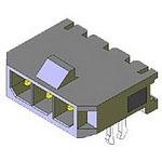 MOLEX ELECTRONICS 43650-0203 MicroFit 3.0 SR RA TH Clip Tin 2Ckt