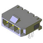 MOLEX ELECTRONICS 43650-0404 MicroFit 3.0 SR RA TH Clip 15Au 4Ckt