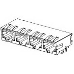 MOLEX ELECTRONICS 44560-0014 Modjack RA Compact Cat 5e PTH Shielded