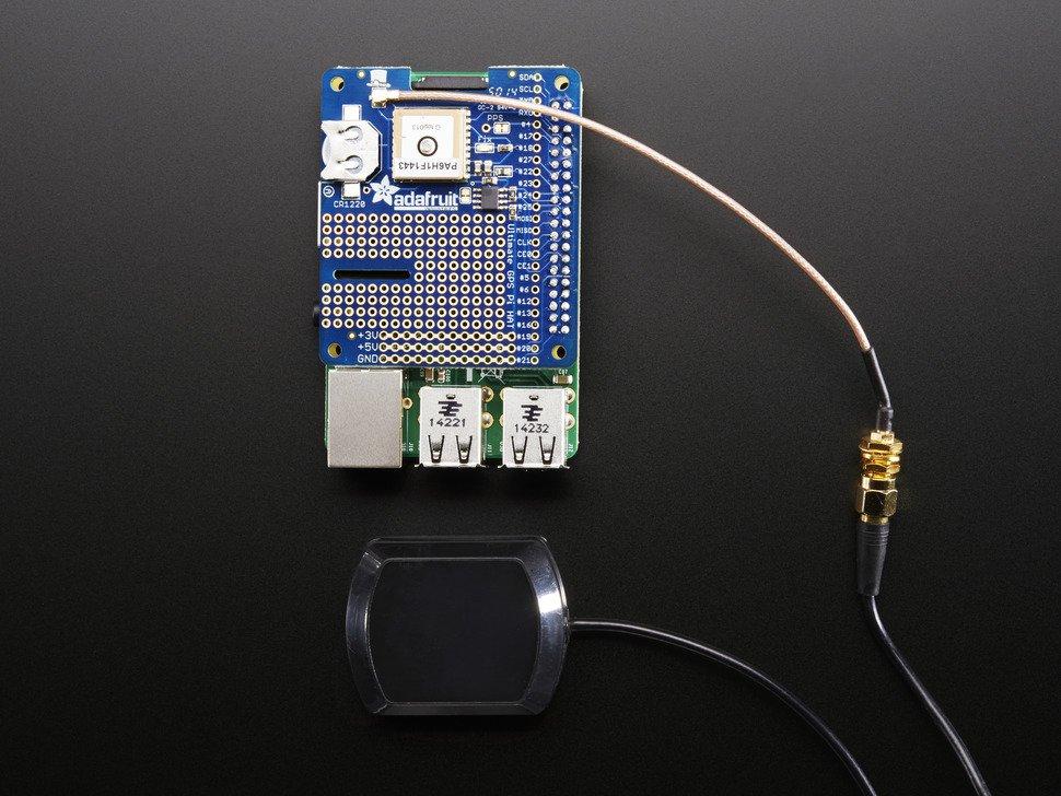 ADAFRUIT ADA2324 - GPS HAT for Raspberry Pi A+/B+/Pi 2