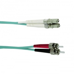 OPTRONICS LCST-OM3-1M - PATCH CABLE DUPLEX LC/ST MM/OM3 1m