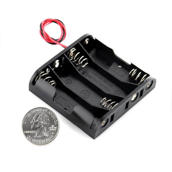 Battery Holder - 4xAA Square