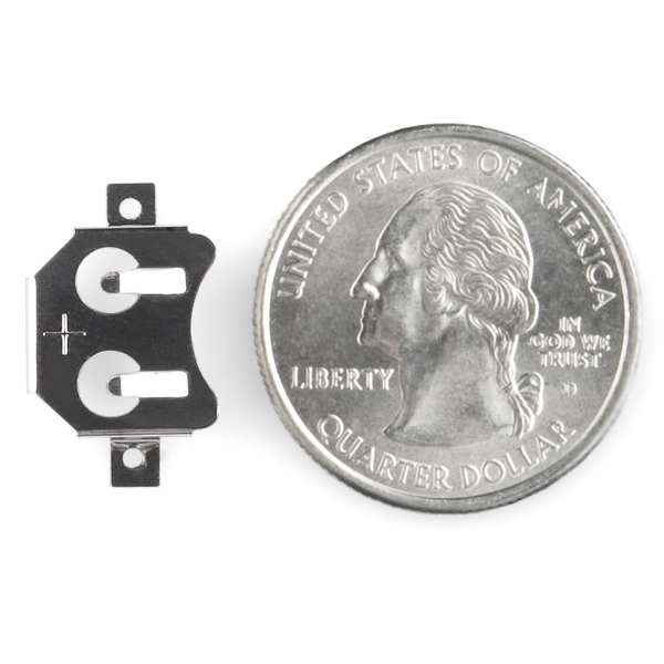 Coin Cell Battery Holder - 12mm (SM