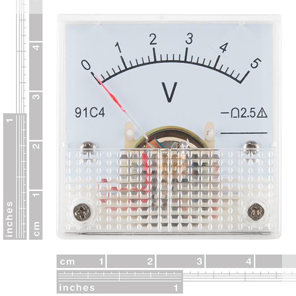 SparkFun Electronics TOL-10285 - Analog Panel Meter - 0 to 5 VDC
