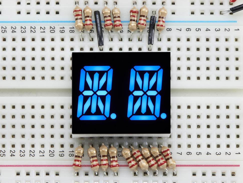 ADAFRUIT ADA1908 - Dual Alphanumeric Display - Blue 0.