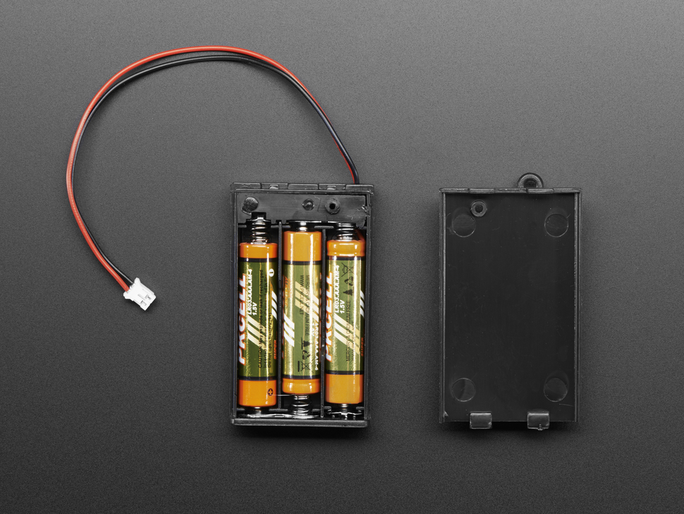 3 x AAA Battery Holder with On/Off