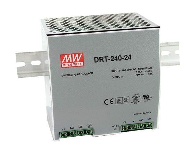 MEAN WELL DRT-240-24 - TEHOLÄHDE DIN 240W 24V