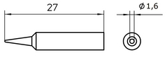 WELLER XNT-AS - TIP WXP-65 1.6  SHORT ROUND