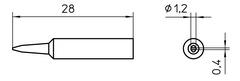 WELLER XNT-K - TIP WXP-65 1,2 SHORT CHISEL