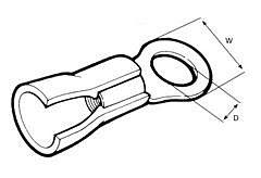ELEMATIC 11201134 - RENGASLIITIN PUN. 3,2x6,0mm 100kpl