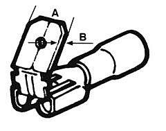 ELEMATIC 11232153 - LATTALIIT.PUN.6.3x0.8mm M/F 100kpl