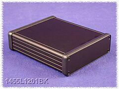 HAMMOND 1455L1201BK - Aluminium Housing 123 x 103 x 30,5mm - Black