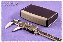 HAMMOND 1553CBK - ABS-Muovikotelo 117x79x33mm Musta / Harmaa