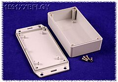 HAMMOND 1591XXBFLGY - ABS-Muovikotelo 113x63x28mm HARMAA IP54