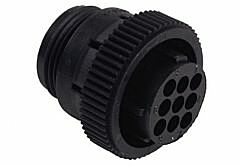 TE 182645-1- AMP CPC 13 - 9 Nap Uros Kaapeliliitin - Musta