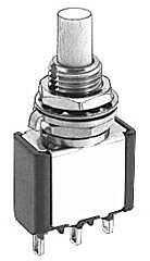 APEM 18535CD - 18000-sarjan Painike Palautuva Sulkeva 1-napainen miniatyyri