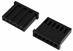 TE 280360 - AMPMODU 6 Nap Naaras Liitinkotelo Pitch 0.1 inch / 2.54 mm