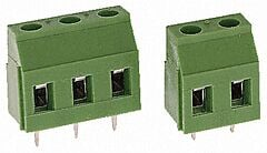 TE 282837-3 - Terminal Block 3 Pin PCB to Wire Pitch 5.08mm / 0.2inch - Green