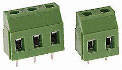 TE 282837-4 - Riviliitin 4 Nap Piirilevy / Johdin Pitch 5.08mm / 0.2inch - Vihreä