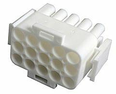 TE 350736-1 - MATE-N-LOK 15 Pin Male Housing Pitch 6.35mm / 0.25inch