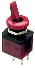 APEM 4141A-26 - Vipukytkin 2-napainen ON-OFF Punainen Asennusaukko 12 mm
