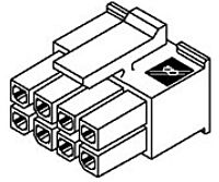 MOLEX 43025-0400 - Micro-Fit 3,0 Liitinkotelo Naaras 4 Napainen 2 Rivinen