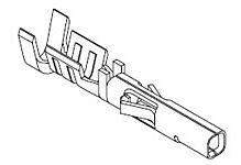 MOLEX 02-09-1206 - 4550-sarjan Naaras Crimp Pinni AWG 14-20 AWG - Irto