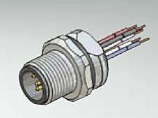 CONEC 43-01010 - M12 5 Pin Male Connector / Panel