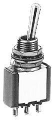 APEM 5636AB - 5000 Sarjan Vipukytkin 1-napainen ON-ON Asennusaukko 6,35 mm