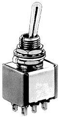 APEM 5646A - Toggle Switch 2 Pole ON-ON