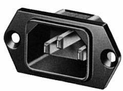 SCHURTER 6100.3300 - IEC-PLUG PANEL/SCREWASEN.