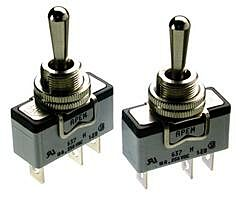 APEM 631H/2 - Toggle Switch On-Off 600H Series Panel Mount