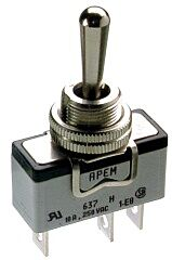 APEM 637H/2 - Toggle Switch 600-Series 1-pole MOM-OFF-MOM