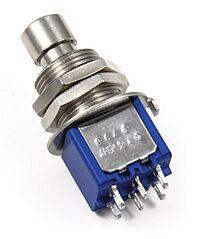 APEM 8646A-5X933 - APEM 8000-sarjan Painikekytkin 2-napainen ON-ON - Hopea