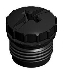 CONEC 43-16211 - M12 CONNECTOR DUST CAP, BLACK