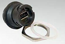 CONEC 17-200161 - USB 2.0 PANEL JACK IP67 BAYONET