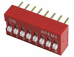 APEM DS-08 - DIP-SWITCH 8POLE