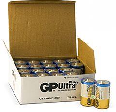 GP BATTERIES LR20 ULTRA PLUS BULK - ALKALINE CELL LR20 D ULTRA PLUS