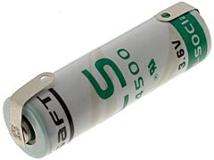 SAFT LS14500CNR - LITIUMPARISTO AA 3.6V 2.6Ah