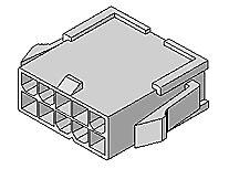 MOLEX 39-01-2021 - Mini-Fit Jr. Plug Housing 2 Circuits UL 94V-0 - Natural