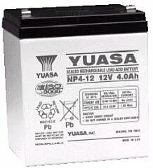YUASA NP4-12 - LEAD BATTERY 12V 4Ah 4-5 YEARS
